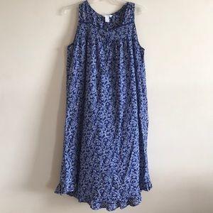 ADONNA sleepwear 4 button front sleeveless gown